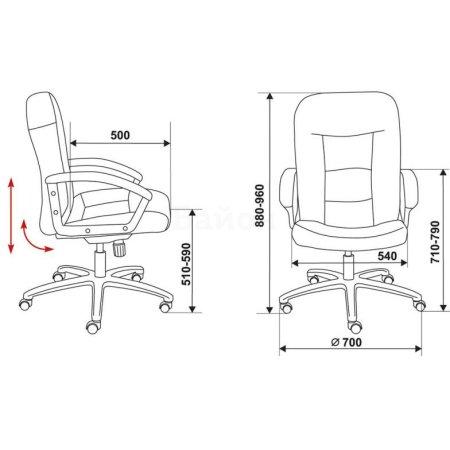 Кресло Бюрократ T-9908AXSN-Low низкая спинка черный кожа крестовина пластиковая