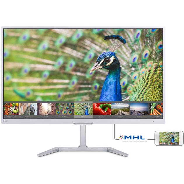 "Philips 246E7QDSW 23.6"", Белый, DVI, HDMI, Full HD"