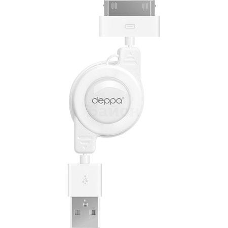 Deppa 72100 USB-30-pin 0.8м, Lightning, USB, Белый