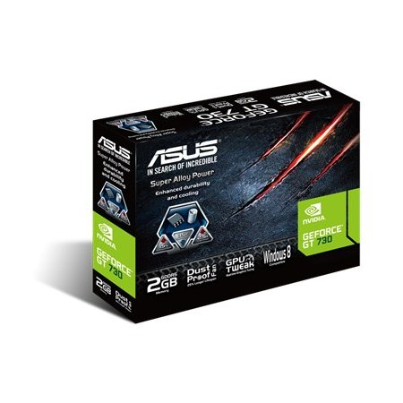 Asus NVIDIA GeForce GT 730 2048Мб, GDDR5, 902MHz /GT730-SL-2GD5-BRK/