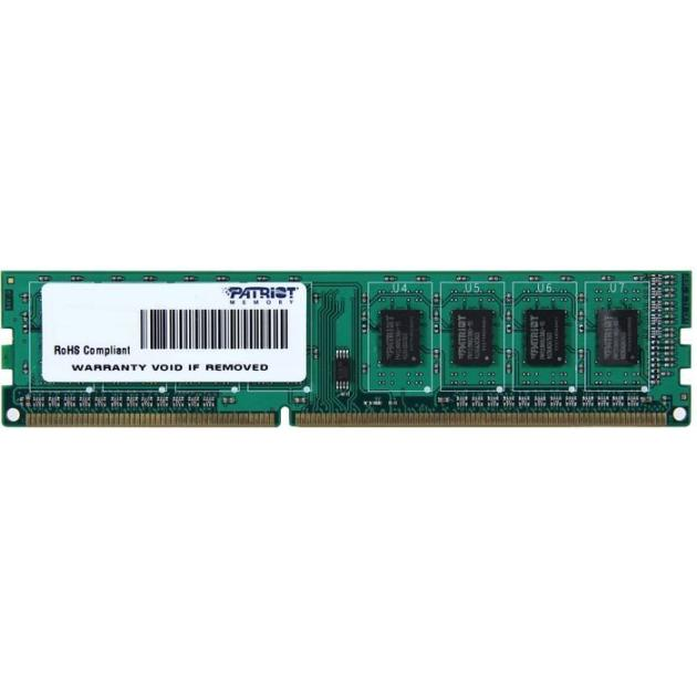 Patriot Memory PSD34G16002 4Гб, PC3-12800, 1600, DIMM