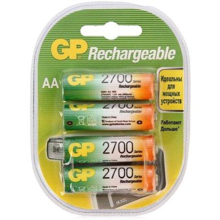 Аккумулятор GP 270AAHC AA NiMH 2700mAh (4шт.уп.)