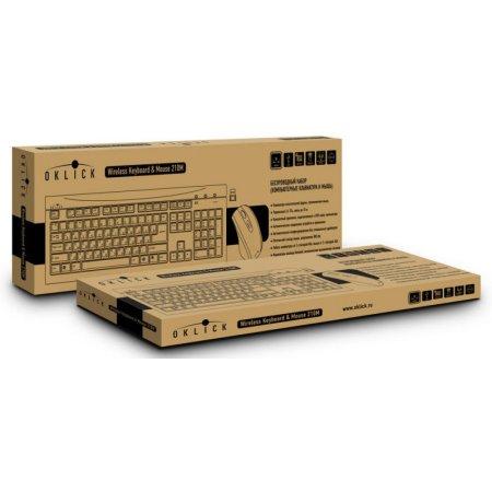 Oklick 210M клав:черный мышь:черный USB, Черный