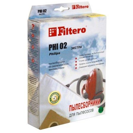 Пылесборники Filtero PHI 02 Экстра пятислойный (2пылесбор.)