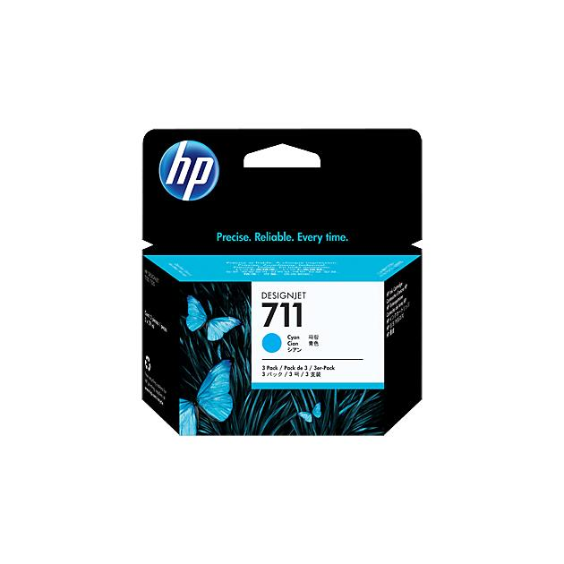 HP Inc. Cartridge HP 711 для Designjet T120.T520,голубой, 3*29мл, тройная упаковка.