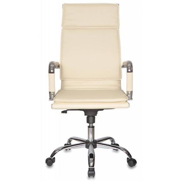Кресло руководителя Бюрократ CH-993/ivory слоновая кость искусственная кожа крестовина хромированная