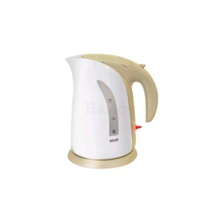 Чайник электрический Mystery MEK-1639 2л. 1800Вт белый/бежевый корпус: пластик Бежевый