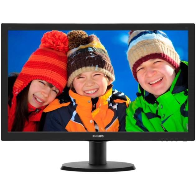 "Philips 243V5LSB 23.6"", Черный, DVI, Full HD"