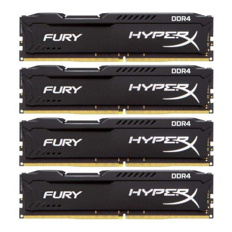 Kingston HyperX Fury HX421C14FBK464 DDR4, 64GB, PC4-19200, 2133, Черный