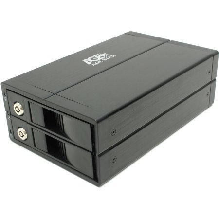 """Внешний корпус для HDD AgeStar S2B3J OTB&Clone SATA II алюминий черный 3.5"""""""