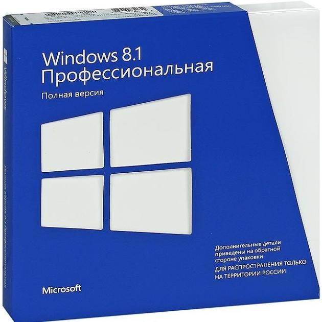 Microsoft Windows 8.1 Professional 32-bit/64-bit 885370652642