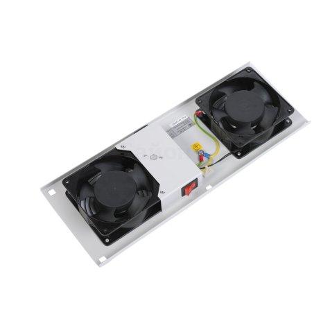 ЦМО Модуль вентиляторный потолочный (170x425), 2 вентилятора с датчиком 35С , [ МВ-400-2С ]