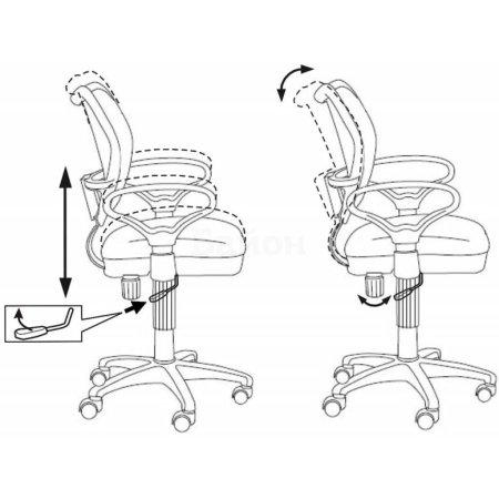 Кресло Бюрократ CH-799AXSN/Blue спинка сетка черный сиденье голубой 26-24