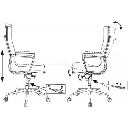 Кресло руководителя Бюрократ CH-996/black черный сетка крестовина хромированная