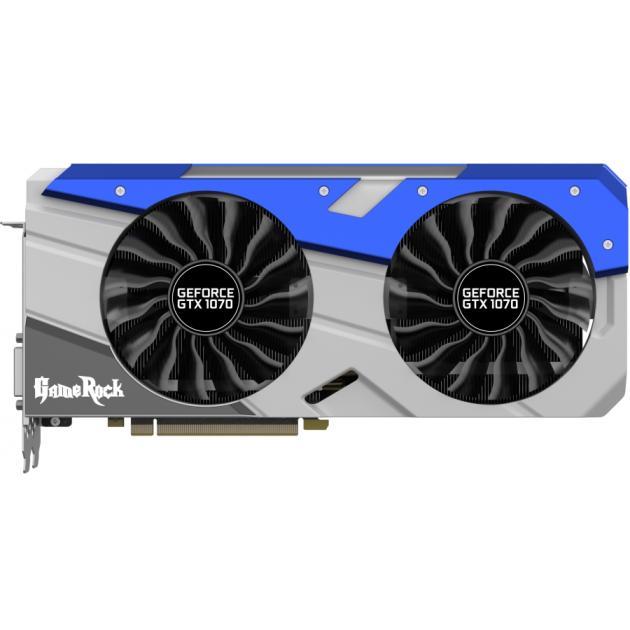 Palit GeForce GTX 10 Series GTX 1070 GameRock - 8192Мб, GDDR5, 1556MHz, PCI-Ex16 3.0