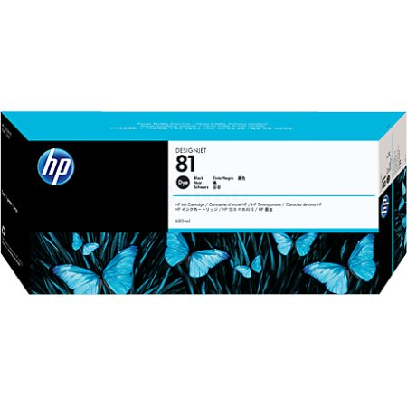 HP Inc. Cartridge HP 81 DsgJ 5000/5000PS/5500/5500PS, черный (680ml)