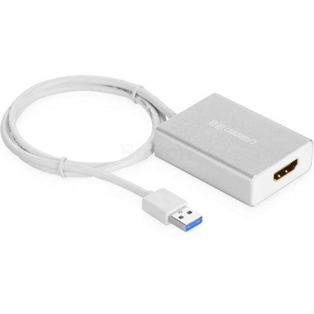 Ugreen UG-40229 0.8м, USB-A, HDMI, Белый