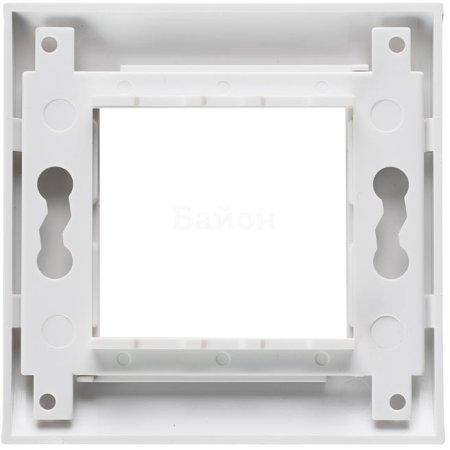 Лицевая рамка для модулей Mosaic, 80х80мм, белая