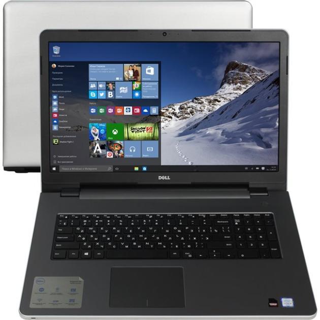 "Dell Inspiron 5759 17.3"", Intel Pentium, 2100МГц, 4Гб RAM, DVD нет, 500Гб, Серебристый, Wi-Fi, Linux, Bluetooth"