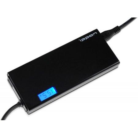Блок питания Ippon SD65U BLACK автоматический 65W 15V-19.5V 8-connectors 1xUSB 2.1A от бытовой электросети LСD индикатор
