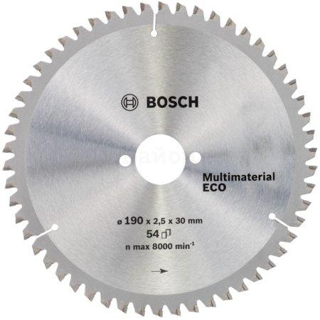 Пильный диск универсальный Bosch 2608641802 d=190мм d(посад.)=30мм (циркулярные пилы)
