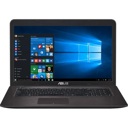 "Asus X756UV-TY077T 17.3"", Intel Core i3, 2300МГц, 4Гб RAM, DVD-RW, 500Гб, Коричневый, Wi-Fi, Windows 10, Bluetooth"