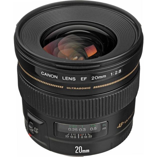 Canon EF 20mm f/2.8 USM Широкоугольный, Canon EF, Совместимость с полнокадровыми фотоаппаратами