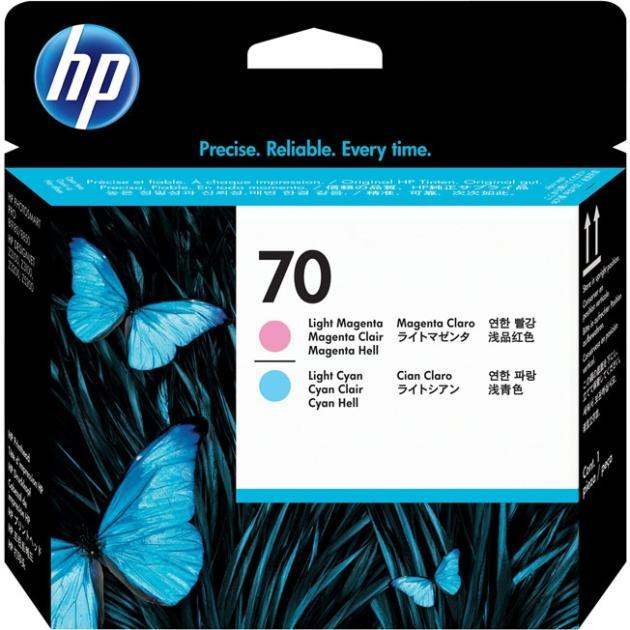 HP 70 Светло-пурпурный, Светло-синий, Печатающая головка, Стандартная, нет