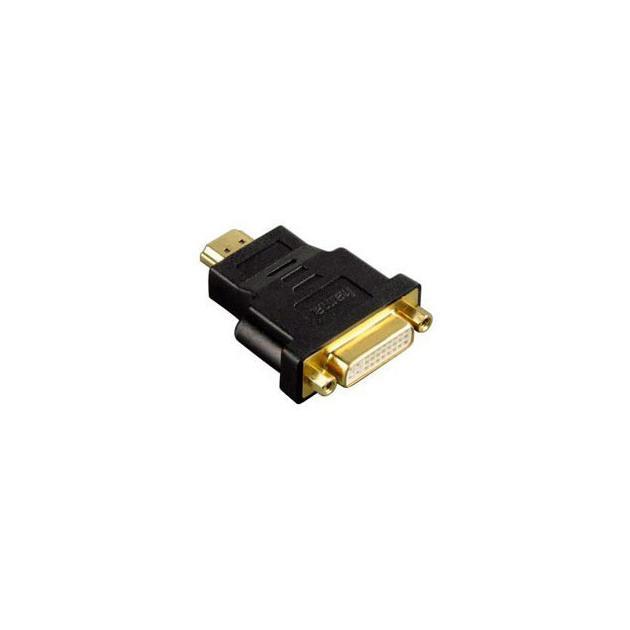 Адаптер Hama H-34036 HDMI (m) - DVI/D (f) позолоченные штекеры черный 00034036