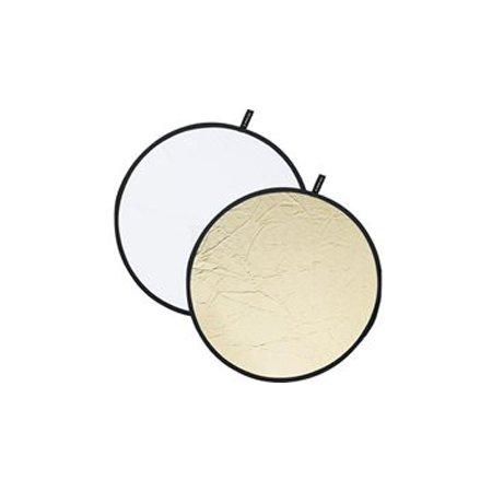Отражатель круглый золотисто-серебристый в полоску 82см CFR-32M