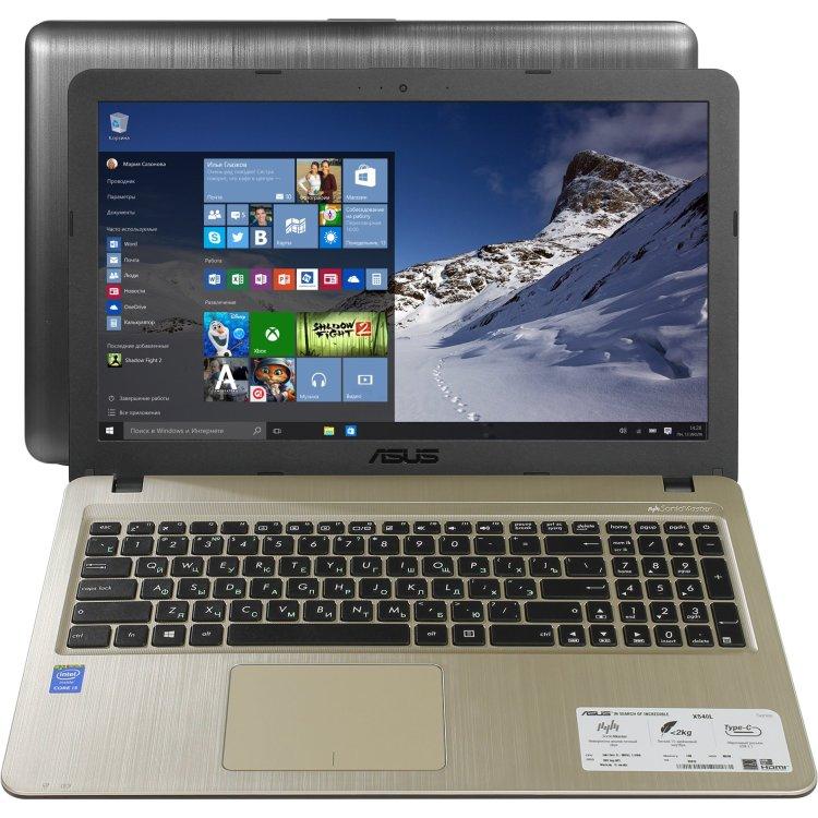 "ASUS VivoBook X540LA-XX265T 15.6"", Intel Core i3, 2000МГц, 4Гб RAM, DVD-RW, 500Гб, Wi-Fi, Windows 10 Домашняя, Bluetooth"