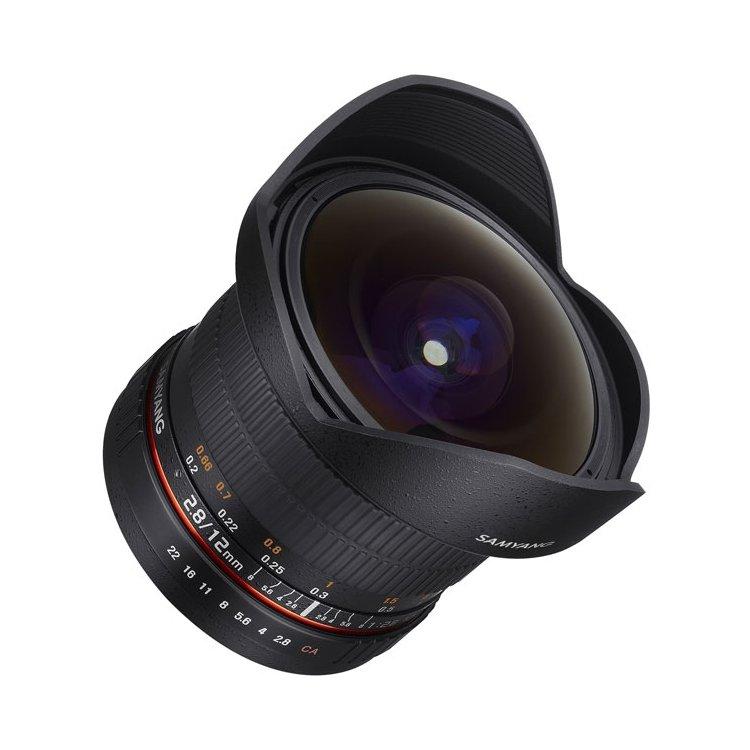 Samyang 12mm f/2.8 ED AS NCS Fish-Eye Canon EF «Рыбий глаз», Canon EF, Совместимость с полнокадровыми фотоаппаратами
