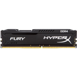Kingston HyperX Fury HX424C15FB/4 DDR4, 4GB, PC4-19200, 2400, Черный