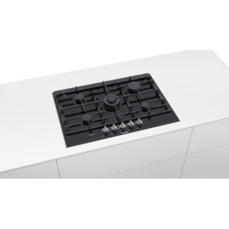 Bosch PRR7A6D70 Черный, Газовая, Стеклокерамика