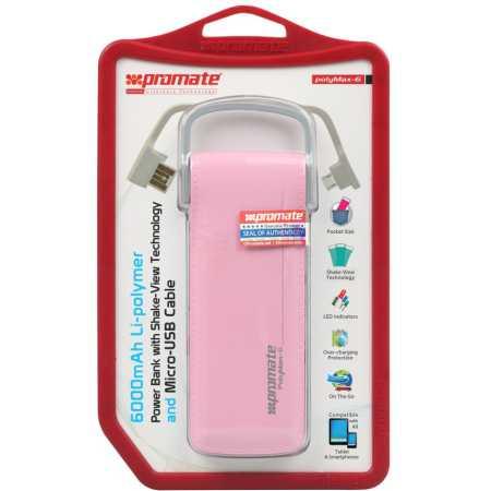 Promate Polymax-6 Розовый