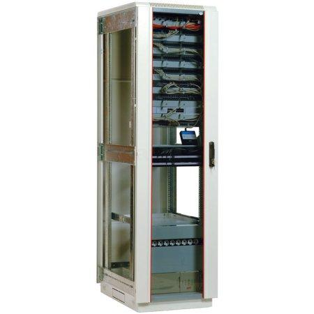 ЦМО Шкаф телекоммуникационный напольный 47U (800х800) дверь стекло (3 места), [ ШТК-М-47.8.8-1ААА ]
