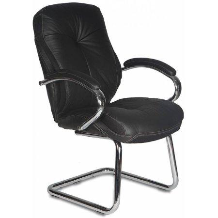 Кресло Бюрократ T-9930AV/Black низкая спинка черный кожа