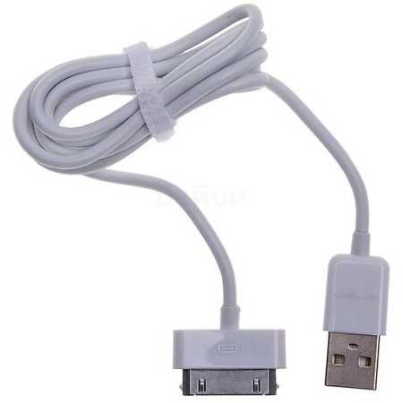 Vertex Slim Line 1м, 30-pin, USB, Белый