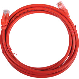 IEK ITK Коммутационный шнур (патч-корд), кат.5Е UTP, 0,5м, красный