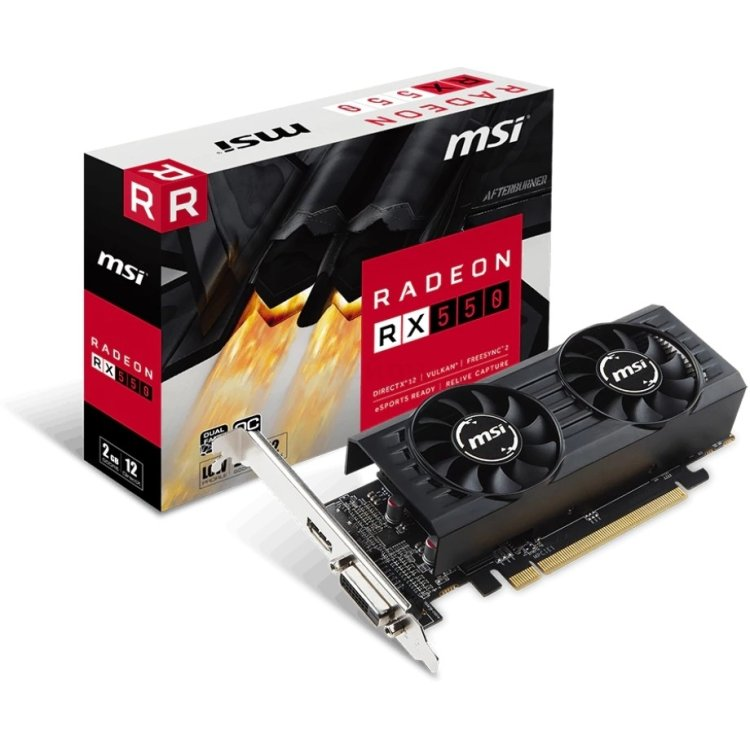 MSI Radeon RX 550 2048Мб, GDDR5, PCI-E 16x, Retail