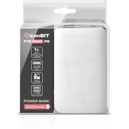 iconBIT FTB6000SF Белый, 6600мАч