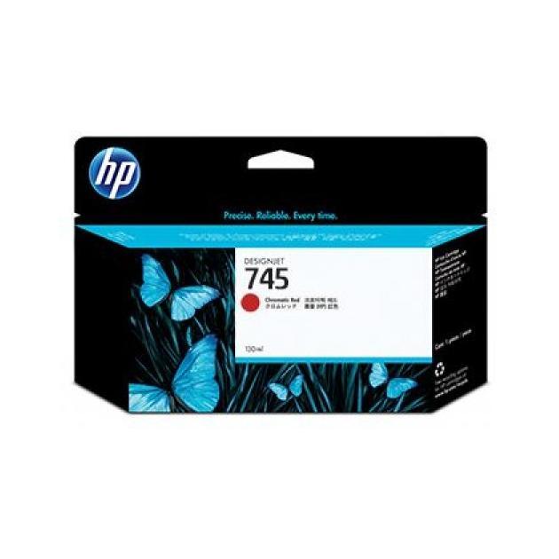 HP 745 Хроматический красный, Картридж струйный, Стандартная, нет