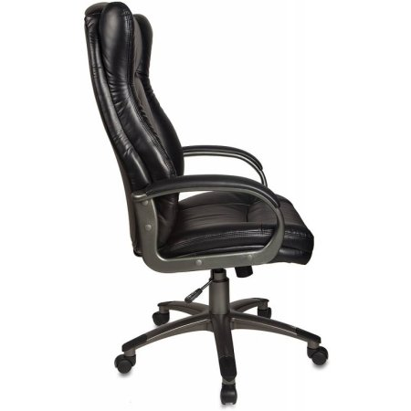 Кресло руководителя Бюрократ CH-879DG/Black черный искусственная кожа (пластик темно-серый)