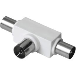 Сплиттер антенный Hama H-43158 Coax (f)/2xCoax (m) белый (00043158)
