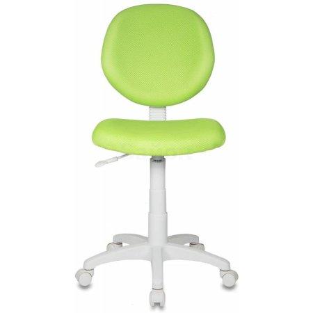 Кресло детское Бюрократ KD-W6/TW-18 салатовый TW-18 пластик белый