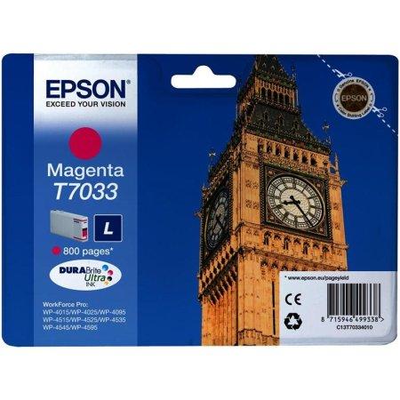 Epson C13T70334010 Пурпурный, Картридж струйный, Стандартная, нет