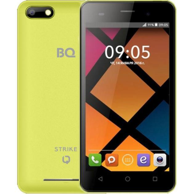 BQ-Mobile BQ BQS-5020 Strike Желтый аксессуар чехол bq bqs 5050 strike selfie zibelino classico black zcl bq bqs 5050 blk