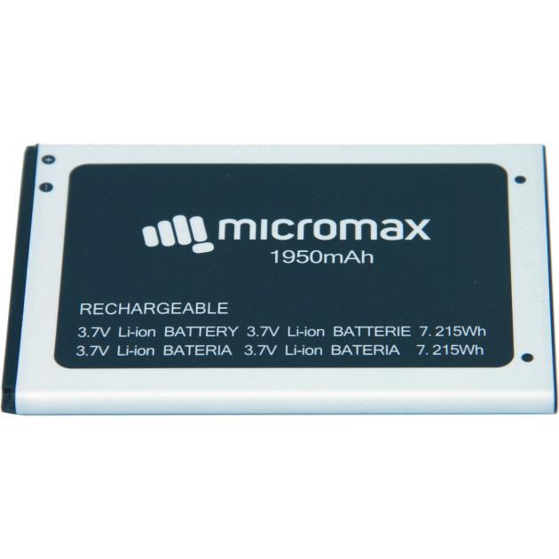 Аккумуляторная батарея для модели Micromax Q341 Черный, 1950мАч