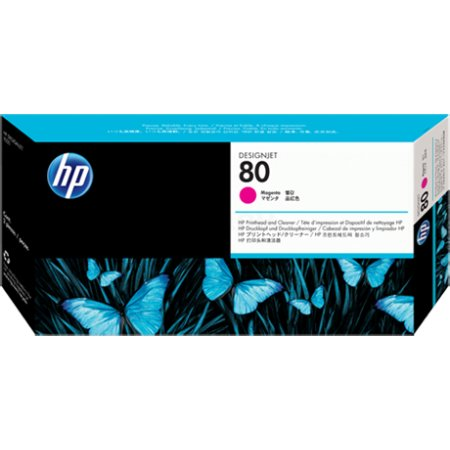 HP Inc. Печатающие головка HP 80 с устройством очистки для DsgJ 1050C,C Plus/1055CM,CM Plus , пурпурный