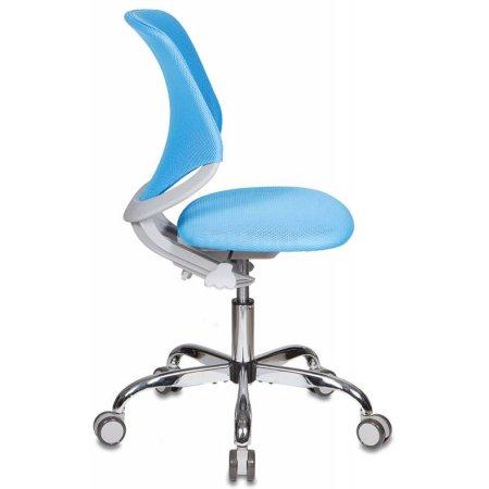 Кресло детское Бюрократ KD-7/TW-55 голубой TW-55 крестовина хром колеса серый пластик серый